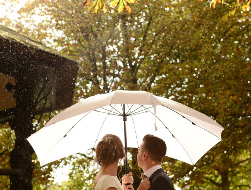 Getting married in the rain